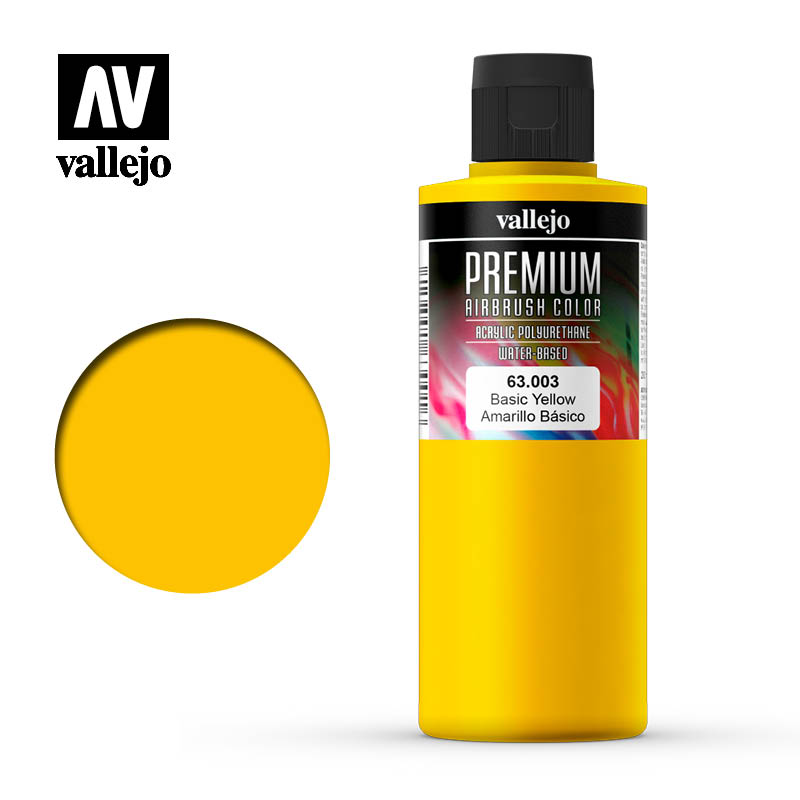 Premium Airbrush Color Vallejo Basic Yellow 63003