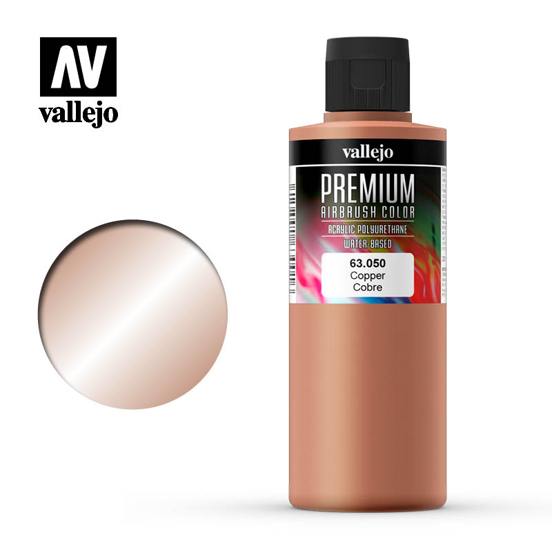 Premium Airbrush Color Vallejo Copper 63050