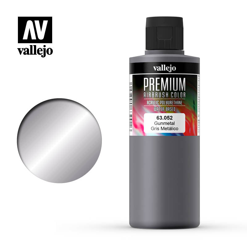 Premium Airbrush Color Vallejo Gunmetal 63052