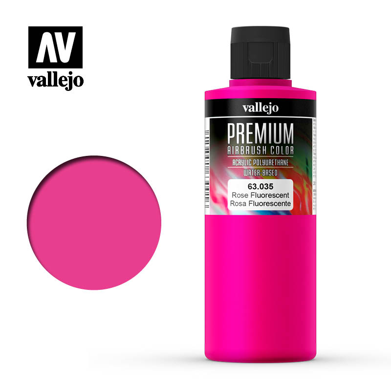 Premium Airbrush Color Vallejo Rose Fluorescent 63035