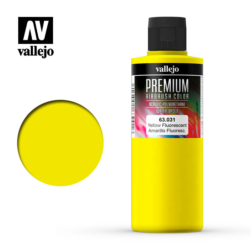 Premium Airbrush Color Vallejo Yellow Fluorescent 63031