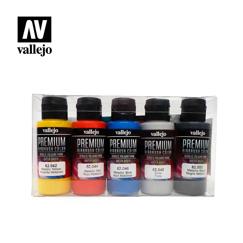 Vallejo Premium Color Sets - Metallic Colors