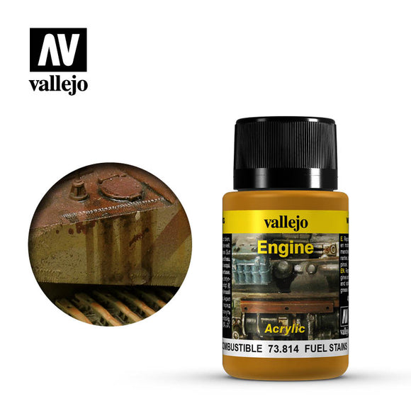 Vallejo Weathering Effects Fuel Stains 73814