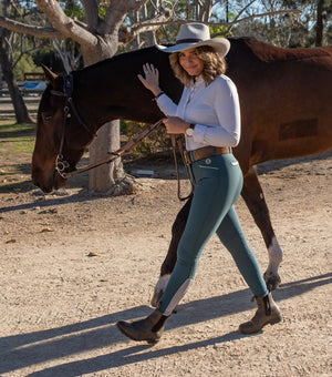 Open image in slideshow, The Logan Breech in Marine Green