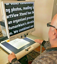 "Load image into Gallery viewer, Enhanced Vision Merlin Ultra + 19"" LCD FLEX ARM Low Vision Magnifier Reader 65X"