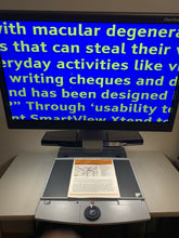 "Load image into Gallery viewer, OPTELEC Clearview OCR SPEECH 24"" Flex Touch Screen Low Vision Video Magnifier"