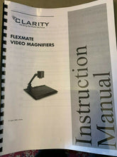 "Load image into Gallery viewer, Clarity Flex Arm Low Vision Video Magnifier Eye Level w/ 24"" LCD, Case, XY Table"