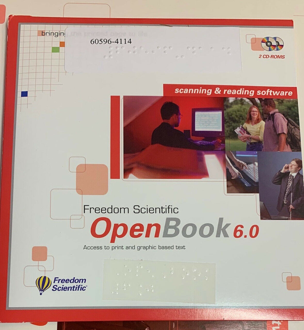 Freedom Scientific Openbook 6.0 Scanning and Reading Software OCR  **NOS**