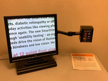 "Load image into Gallery viewer, Clarity Portable Eye Level Deskmate Low Vision Video Magnifier 19"" LCD & Battery"