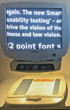 "Load image into Gallery viewer, Enhanced Vision Merlin Low Vision Video Magnifier w/ 20"" Brighter CRT TV Refurb."