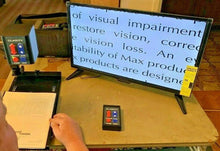 "Load image into Gallery viewer, Clarity 24"" LCD Low Vision Video Magnifier Eye Level Flex Arm w/ Case & XY Table"