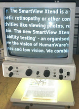 "Load image into Gallery viewer, Tieman 17"" Custom Bright CRT Low Vision Video Magnifier B/W M/Focus LineMarkers"