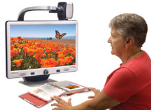 "Load image into Gallery viewer, DaVinci Pro HD/OCR Desktop Portable Video Magnifier with 24"" LCD- Full Page Text-to-Speech and Self Viewing"