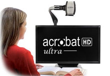 "Load image into Gallery viewer, Acrobat HD Ultra w/ 22"" LCD Screen Portable Desktop Video Magnifier"