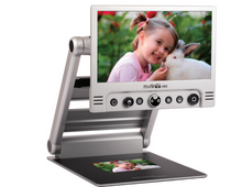 "Load image into Gallery viewer, Merlin Mini HD Portable Desktop Video Magnifier with 15.6"" LCD Folds Flat & 2 Year Warranty"