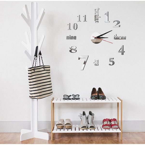 3D Sticker aesthetic room decor clock on the wall