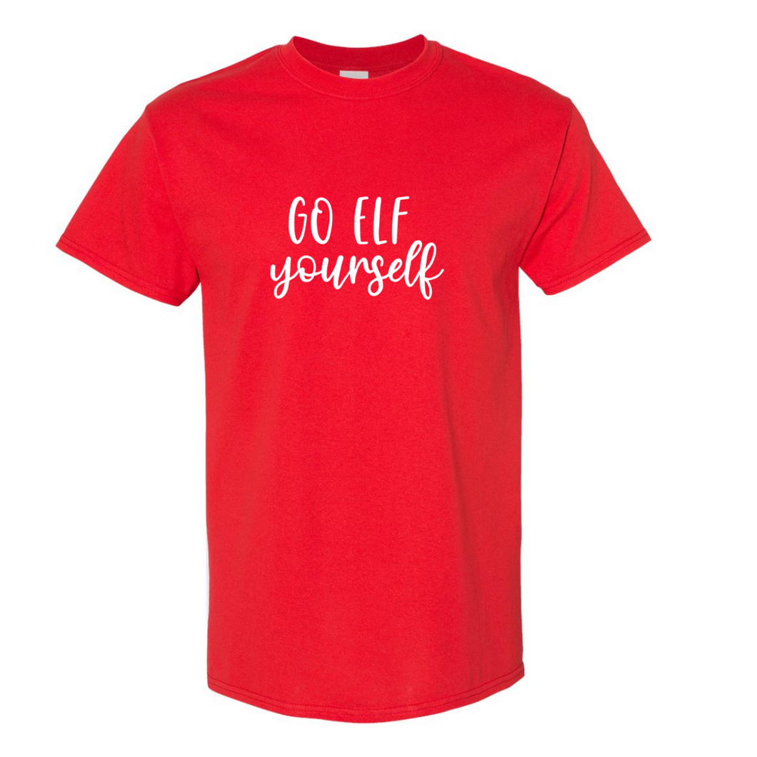 Go Elf Yourself Tee- Red/White