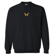 Load image into Gallery viewer, Embroidered Butterfly Crewneck - Black