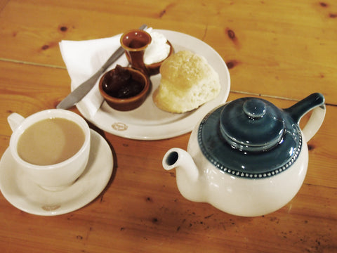 Tea and Scones at the Cafe