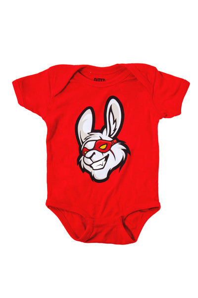 Misfits Gaming Little Misfit Babygrow, Red