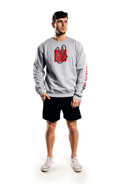 Misfits Gaming Misprint Crewneck, Grey