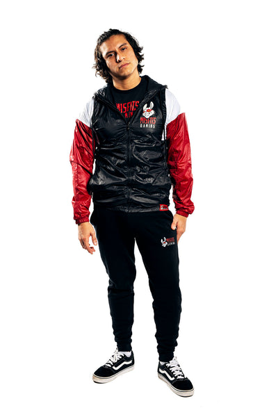 Misfits Gaming Stadium Windbreaker Jacket, Black