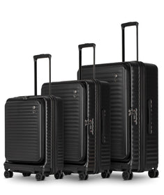 Echolac Celestra 4-Wheel Luggage S/M/L, Black