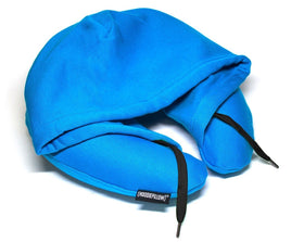 HoodiePillow Opblaasbare Travel Pillow - Ocean Blue