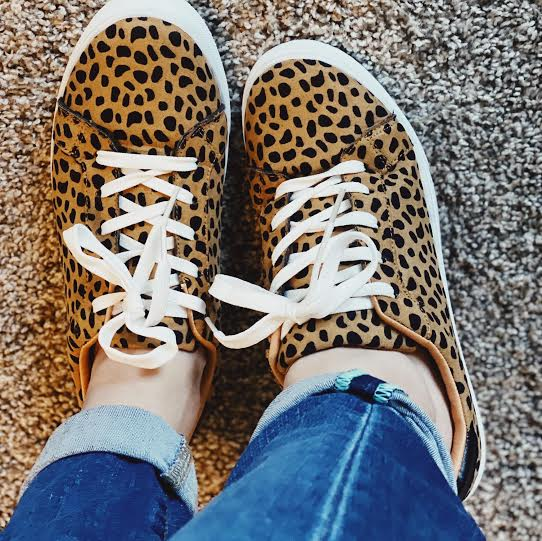 Animal Print Sneakers Tennis Shoes