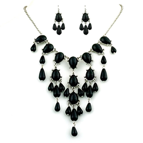 Chandelier Necklace & Earrings Matching Sets (Multiple Options Available)