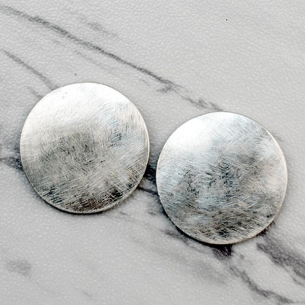 Brushed Metal Stud Earrings (Multiple Options Available)