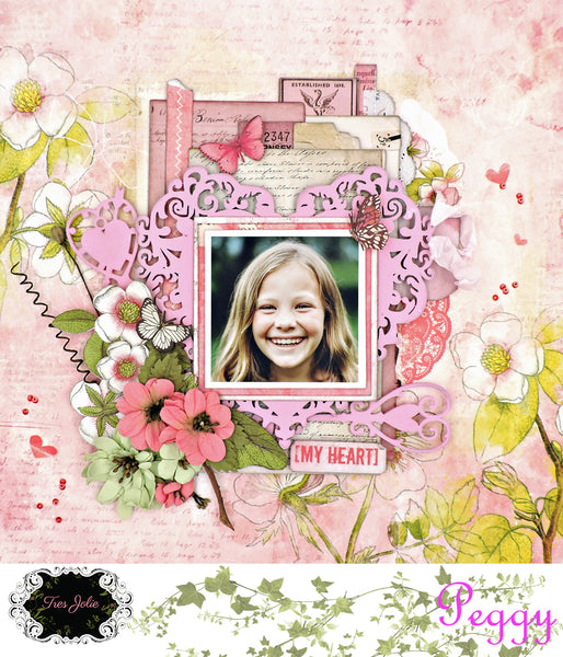 My Heart: A Layout for Tres Jolie Kits