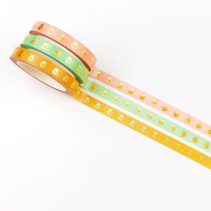 Washi - Bee A Lil Cute - Honeybee Washi Tape (set of three) - Gold Foiled