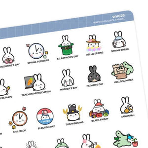 Stickers - Annual 2021 Holidays