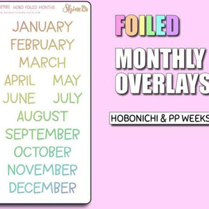 Monthly Overview Stickers - Foiled