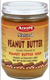 Adom Foods Natural Unsalted Peanut Butter