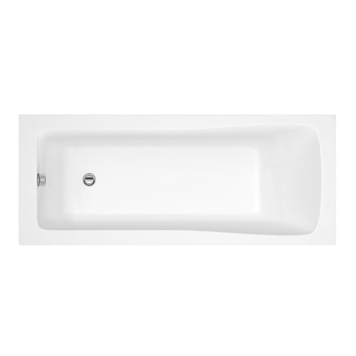 Nuie Linton Shower Bath with Round Bath Screen