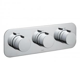 Vado Tablet Horizontal 2 Outlet, 3 Handle Concealed Thermostatic Valve