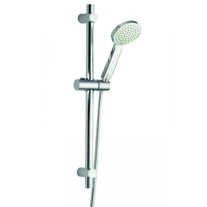 Pura Arco Shower Riser Rail Kit with Adjustable Fixings & Single Function Air Mix Handset