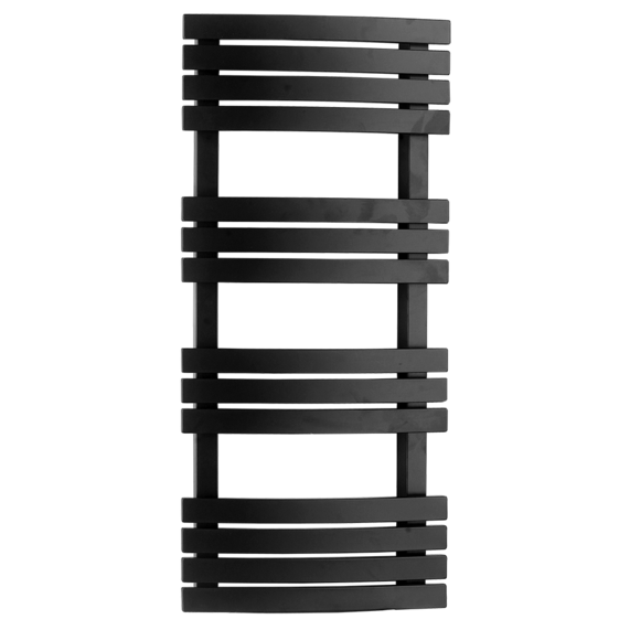 Scuro Bathroom Radiator Towel Rail - Black
