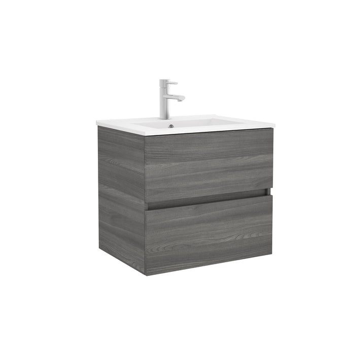 Fussion Line 600 Wall Hung Basin Unit - Choose Colour