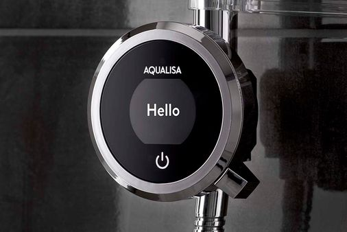 AQUALISA QUARTZ TOUCH CONCEALED DIGITAL SHOWER & CEILING HEAD KIT FOR PUMPED BOILERS