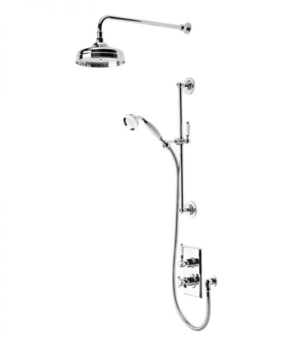 Tavistock Varsity Thermostatic Concealed Dual Function Diverter Shower Valve with Head / Handset
