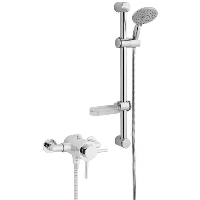 KARTELL OPTION 4 THERMOSTATIC EXPOSED SHOWER WITH ADJUSTABLE SLIDE RAIL KIT