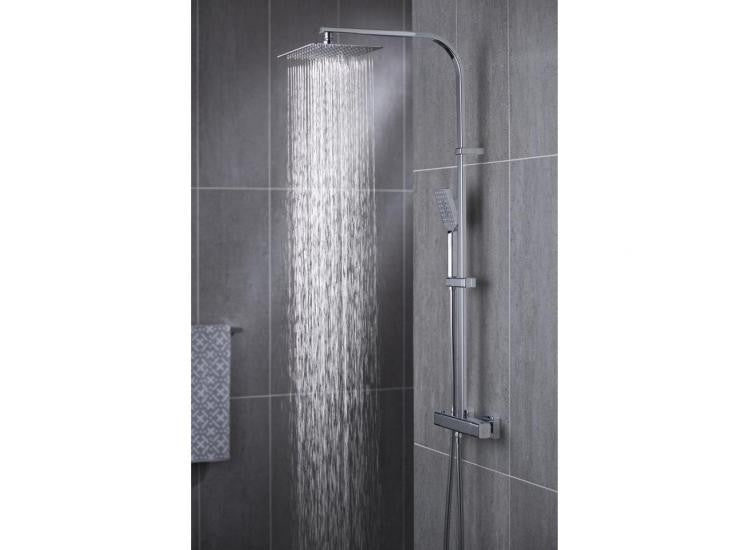 Vado Phase Thermostatic Shower Valve with Integrated Diverter and Rigid Riser