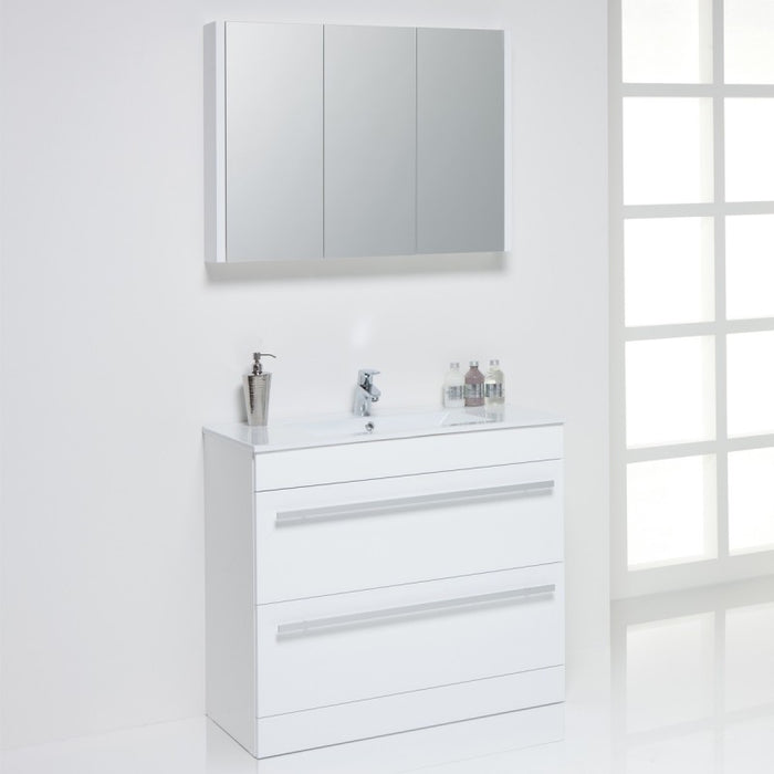 Kartell Purity 900mm Floor Standing Drawer Unit & Basin - Choose Colour