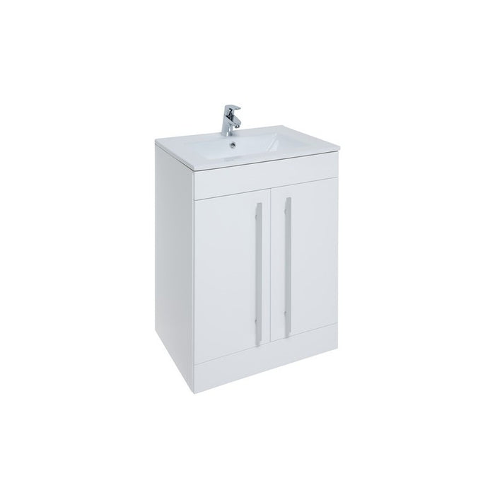 Kartell Purity 600mm Floor Standing 2 Door Unit & Basin - Choose Colour