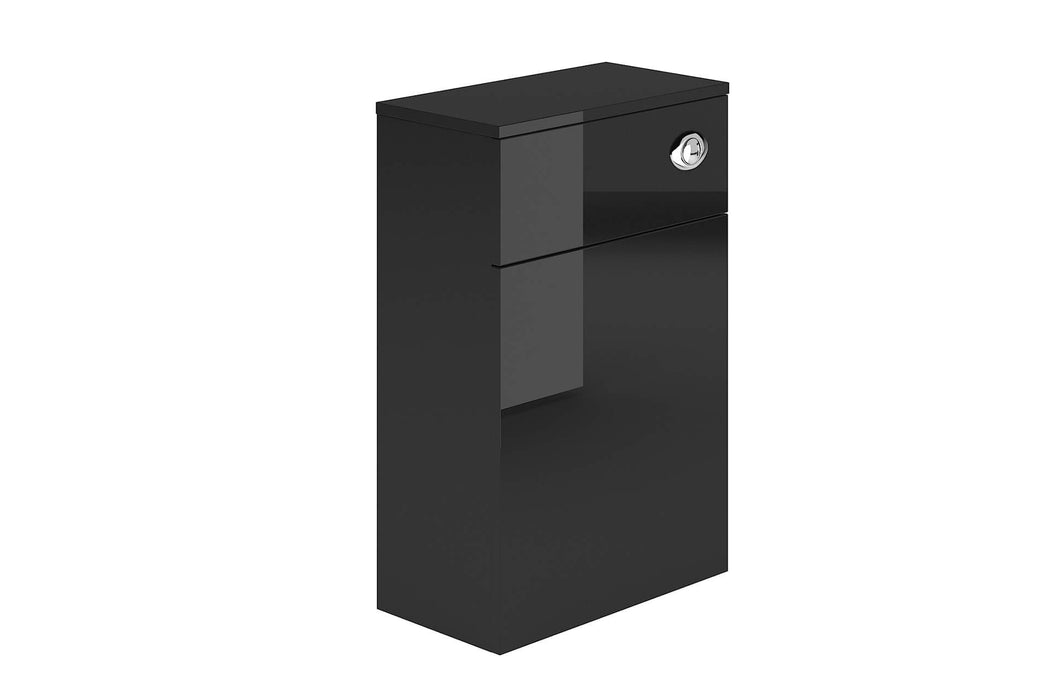 Alan T Carr Black Metallic Back To Wall WC Unit