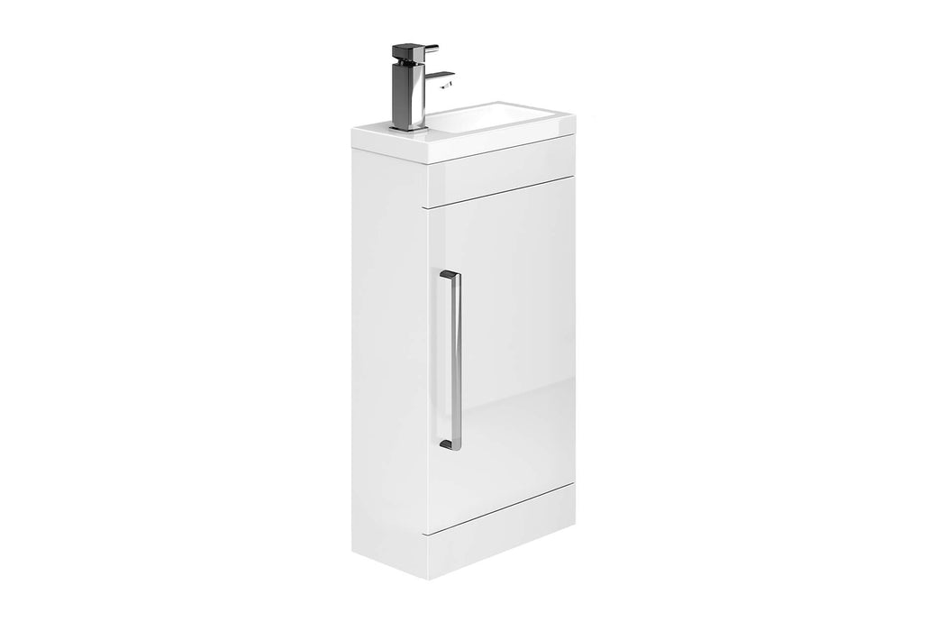 Alan T Carr Lockbury White Floor Standing Cloakroom Unit & Basin