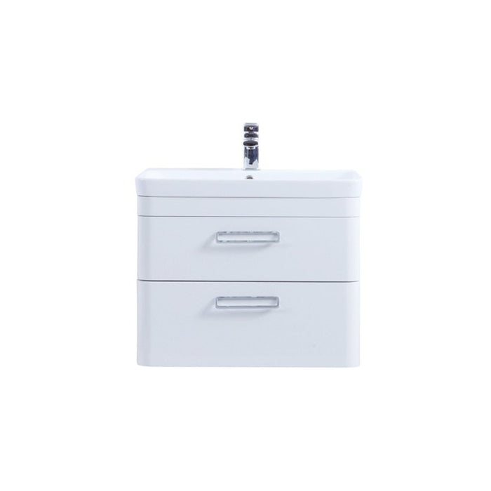 Kartell Metro White Wall Mounted Drawer Unit & Basin - Choose Size